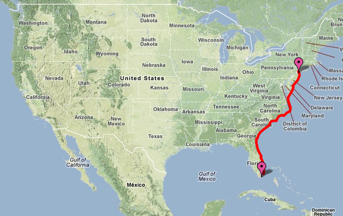Intracoastal Waterway Travel Time